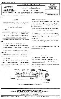 Wiercenia małośrednicowe - Rury płuczkowe ze zgrzewanymi zwornikami BN-83/1796-03