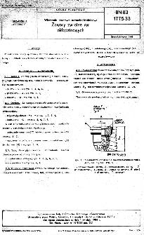 Wiercenia obrotowe normalnośrednicowe - Zawory zwrotne rur okładzinowych BN-83/1775-33