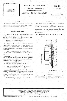 Wiercenia obrotowe normalnośrednicowe - Łączniki do rur traconych BN-90/1775-39