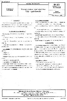 Wiercenia obrotowe normalnośrednicowe - Tuty i gwintowniki BN-83/1776-03