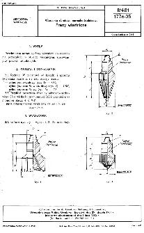 Wiercenia obrotowe normalnośrednicowe - Frezy wiertnicze BN-81/1776-05