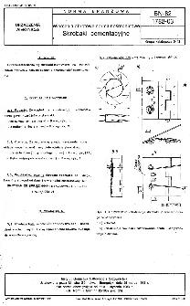 Wiercenia obrotowe normalnośrednicowe - Skrobaki cementacyjne BN-82/1782-03