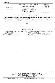 Wiercenia obrotowe normalnośrednicowe - Agregaty pompowe - Ciśnienia robocze BN-87/1782-04
