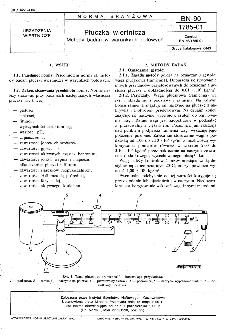 Płuczka wiertnicza - Metody badań w warunkach polowych BN-90/1785-01