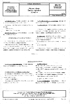 Wiercenia okrętne - Świdry spiralne - Wymagania BN-78/1793-04