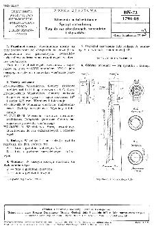 Wiercenia małośrednicowe - Sprzęt ratunkowy - Tuty do rur płuczkowych, zworników i złączników BN-73/1794-04