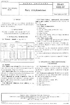 Rury strzykawkowe BN-63/6850-02