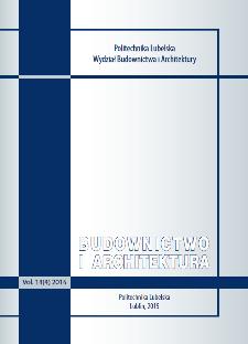 Budownictwo i Architektura Vol. 14(1)2015