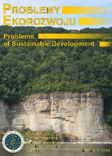 Problemy Ekorozwoju : studia filozoficzno-sozologiczne Vol. 10, Nr 2, 2015