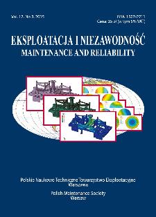 Eksploatacja i Niezawodność = Maintenance and Reliability Vol. 17 No. 3, 2015