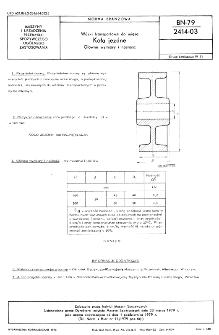 Wózki transportowe do mięsa - Koła jezdne - Główne wymiary i nośność BN-79/2414-03