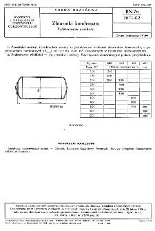 Zbiorniki kondensatu - Podstawowe wielkości BN-76/2671-02