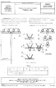 Elementy do mocowania rurociągów - Podpory stałe BN-82/2414-05/03