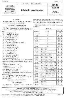 Zdobniki ciastkarskie BN-76/2600-03