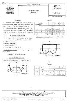 Maszyny piekarskie - Dzieże BN-79/2604-01