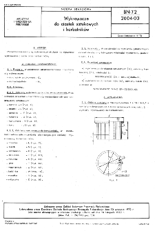 Wykrawacze do ciastek sztukowych i herbatników BN-72/2604-03