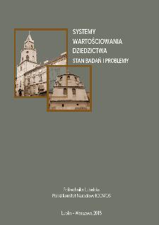 Systemy wartościowania dziedzictwa : stan badań i problemy