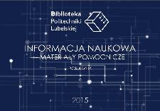 Informacja naukowa : materiały pomocnicze : poradnik