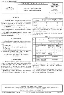 Szkło budowlane - Szkło piankowe czarne BN-80/6827-01