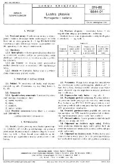 Lustra płaskie - Wymagania i badania BN-86/6844-01