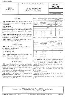 Szyby meblowe - Wymagania i badania BN-86/6844-02
