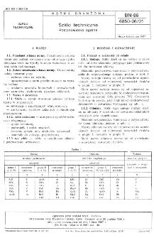 Szkło techniczne - Postanowienia ogólne BN-86/6850-06/01