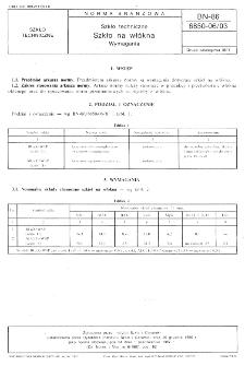 Szkło techniczne - Szkło na włókna - Wymagania BN-86/6850-06/03