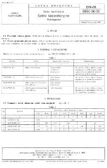 Szkło techniczne - Szkło laboratoryjne - Wymagania BN-86/6850-06/05
