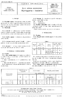 Rurki szklane aparaturowe - Wymagania i badania BN-75/6851-07