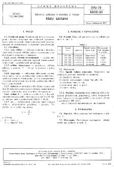 Włókno szkłane i wyroby z niego - Maty szklane BN-78/6859-05