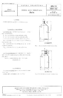 Szklany sprzęt laboratoryjny - Butle BN-74/6851-02