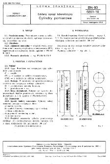 Szklany sprzęt laboratoryjny - Cylindry pomiarowe BN-80/6851-10