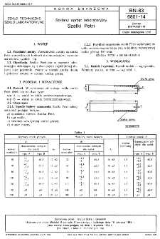 Szklany sprzęt laboratoryjny - Szalki Petri BN-83/6851-14
