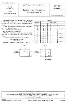 Szklany sprzęt laboratoryjny - Krystalizatory BN-69/6851-20