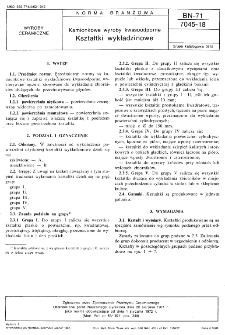 Kamionkowe wyroby kwasoodporne - Kształtki wykładzinowe BN-71/7045-18