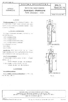 Kamionka kwasoodporna - Aparatura chemiczna - Rurki zraszające i dysze BN-72/7045-21