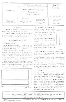 Technika drukowania wypukłego - Zecerstwo - Nazwy i określenia BN-71/7401-04