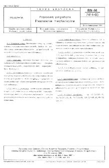 Pólprodukty poligraficzne - Prasowanie mechaniczne BN-86/7414-03