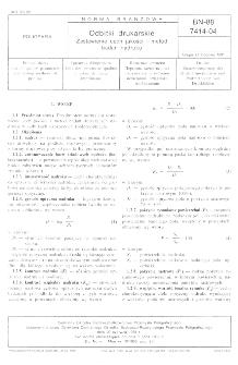 Odbitki drukarskie - Zestawienie cech jakości i badań nadruku BN-88/7414-04