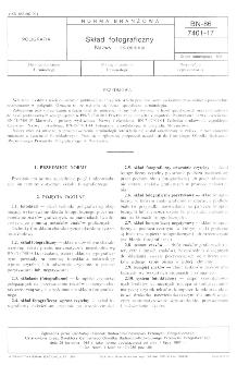 Skład fotograficzny - Nazwy i określenia BN-86/7401-17