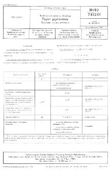 Technika drukowania wklęsłego - Papier pigmentowy - Uczulanie i przechowywanie BN-83/7432-01