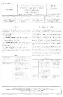 Warstwy kopiowe i kopie chemigraficzne oraz offsetowe - Pobieranie próbek i metody badań BN-81/7432-05