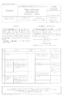 Folia offsetowa dwumetalowa - Wymagania i badania BN-86/7435-02