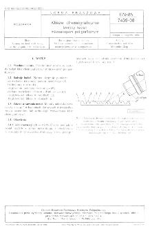 Klisze chemigraficzne - Metody badań mikroskopem poligraficznym BN-85/7439-08
