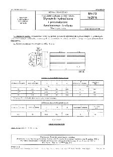 Przenośniki wzdłużne do kłód i dłużyc - Wyrzutniki hydrauliczne i pneumatyczne dwustronnego działania - Główne parametry BN-72/1621-16