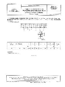 Przenośniki wzdłużne do kłód i dłużyc - Wyrzutniki pneumatyczne dolne jednostronnego działania - Główne parametry BN-73/1621-17