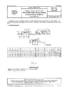Przenośniki wzdłużne do kłód i dłużyc - Wyrzutniki hydrauliczne boczne jednostronnego działania - Główne parametry BN-73/1621-18