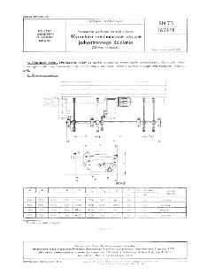 Przenośniki wzdłużne do kłód i dłużyc - Wyrzutniki mechaniczne boczne jednostronnego działania - Główne parametry BN-73/1621-19