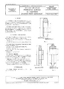 Górnictwo odkrywkowe - Pierścienie gumowe do krążników przenośników taśmowych - BN-87/1726-14.03