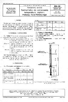Termometry szklane - Termometry do oznaczania temperatury zapłonu metodą Abla - Pensky'ego BN-89/5531-37